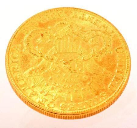Fine gold 20 dollar coin, 1895, 33.41 grams
