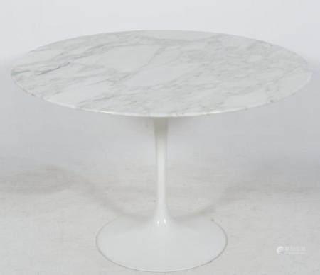 Eero Saarinen, vintage tulip table with white Carera marble