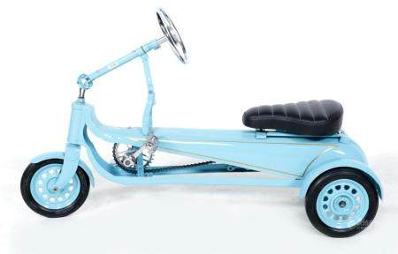 Blue painted 1930s children's tricycle (fully restored)