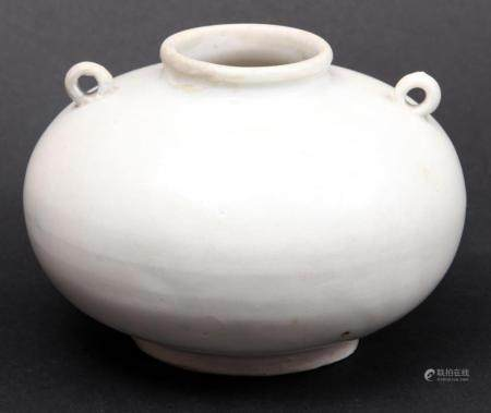 Chinese Qing Baj ceramic vase with lid, Song dynasty