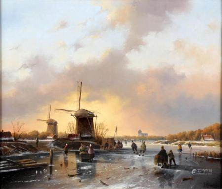 Fred Arends (Arnhem 1949), Icefun, oil on canvas, 36.5 x 44