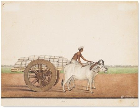 AN OX-DRAWN CART