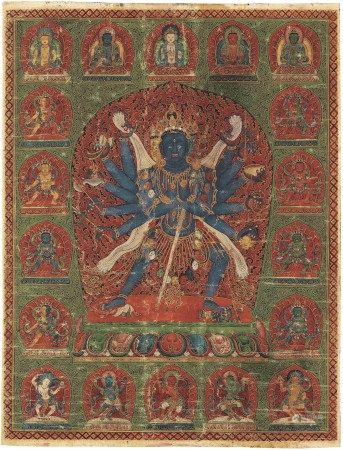 AN IMPORTANT IMPERIAL PAINTING OF CHAKRASAMVARA