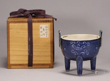 Ming Dynasty - Blue Glaze Censer