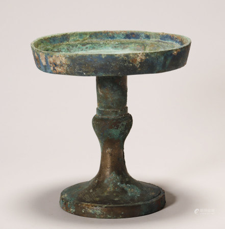 Han Dynasty - Bronze Lamp / Candle Stand