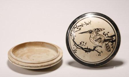 Song Dynasty - Cizhou Ware Powder Box