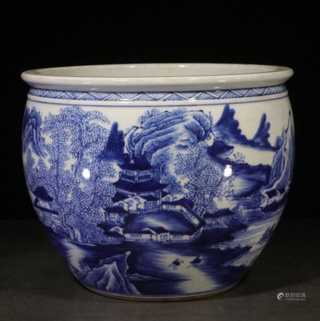 CHINESE BLUE & WHITE JAR