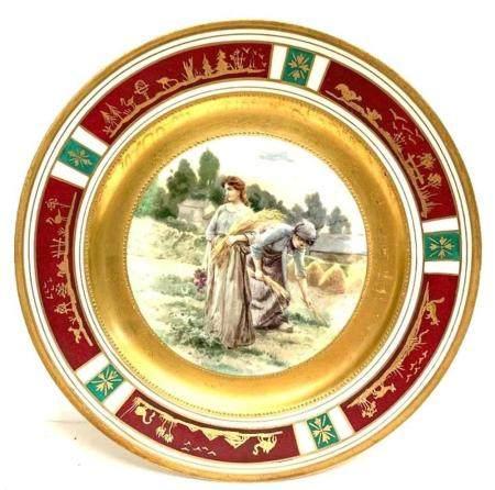 Plate Royal Vienna Porcelain ManufactoryCa 1900