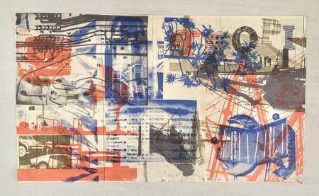 Robert Rauschenberg Color Lithograph Miami Herald