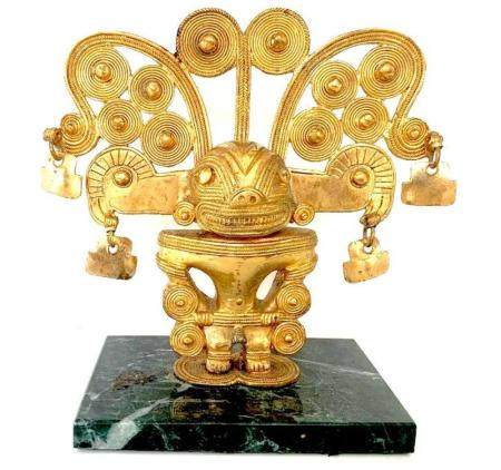 ORIGINAL LARGE COLOMBIAN GOLD COPPER TAIRONA TUMBAGA