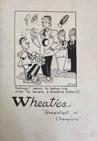 vintage american cartoon illustration signed