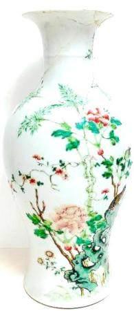 A Chinese Famille Verte Porcelain Vase, 19th Century