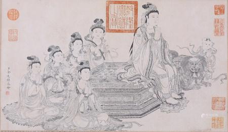 金廷标 白描佛像