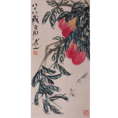 齐白石 寿桃