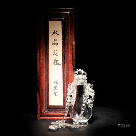 趙運堂水晶鏈瓶