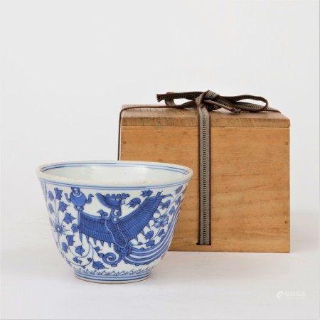 清 青花鳳紋碗