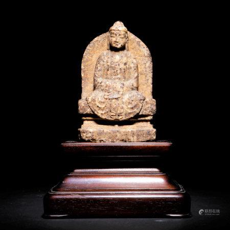 唐 石雕釋迦牟尼座佛