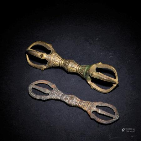 十八世紀 銅金剛杵兩件