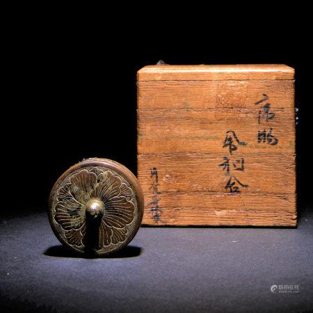 十五世紀 金銅佛舍利盒