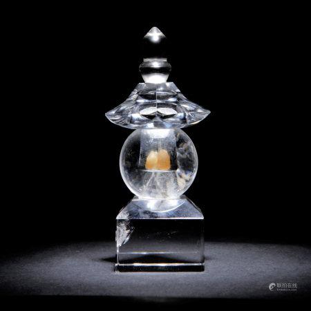 水晶 舍利塔 內含佛舍利三顆