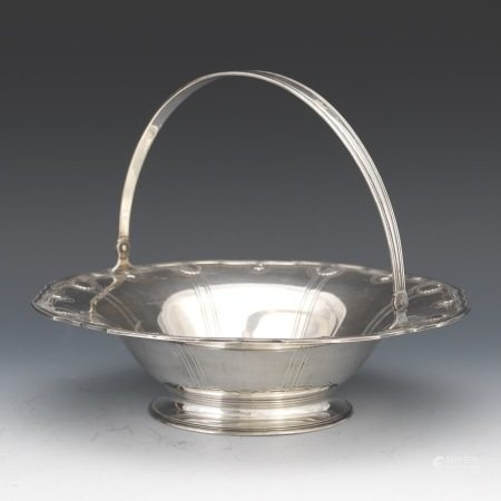 Tiffany & Co. Art Deco Centerpiece Basket with Handle, ca. 1907-1947