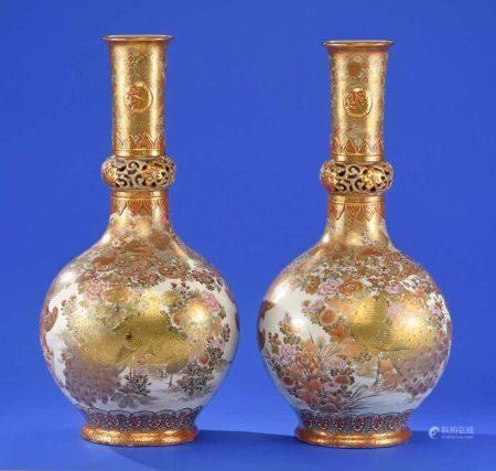Ein Paar feiner Vasen Japan, Ende 19. Jhdt.