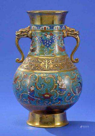 Cloisonné-Vase 19. Jhdt.