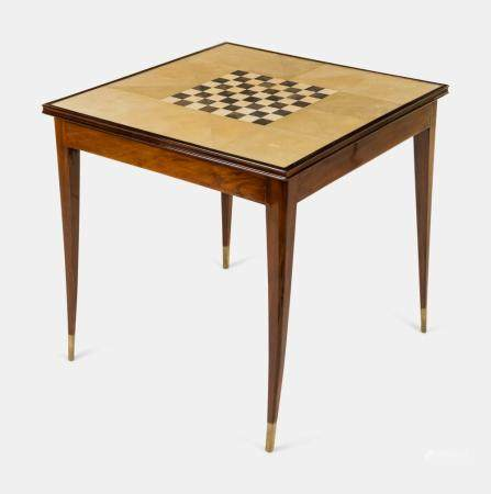 Manner of Jules Leleu Early 20th Century Art Deco Game Table