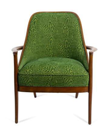 A Palecek 7361-74 Woodland Veneer Back Chair
