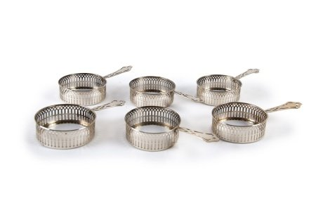 SET OF SIX STERLING SILVER HOLDERS