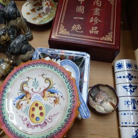 2 Buddhas, a ginger jar and other Oriental items
