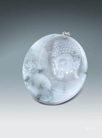 冰種翡翠佛像掛飾