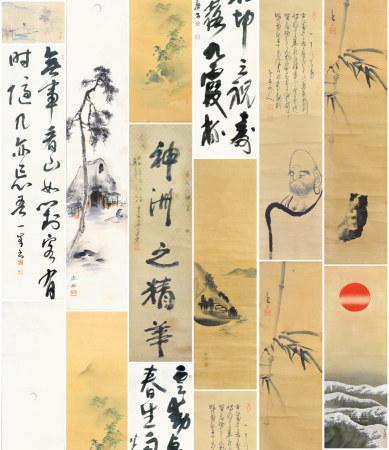 (日本遺產)   日本舊字畫一組10幅
