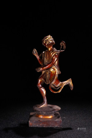 A Chinese Gild Copper Figure Ornament