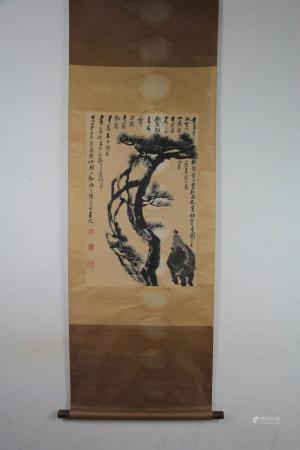 A Chinese Painting Scroll, Li Ke'ranMark