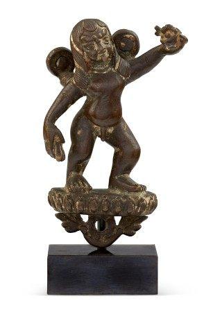 西藏或尼泊尔 十五世纪或以后 铜大成就者像 TIBET OR NEPAL, 15TH CENTURY OR LATER