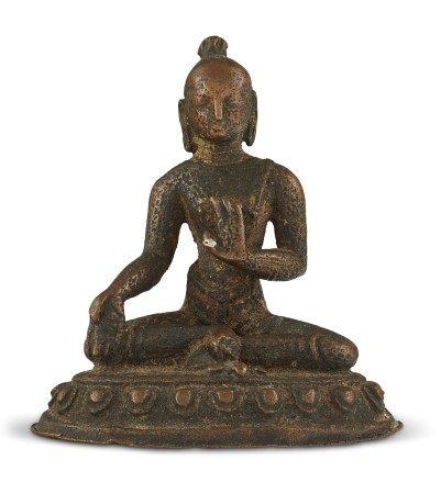 尼泊尔 十五/十六世纪 铜僧苦行像 NEPAL, 15TH-16TH CENTURY