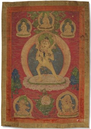 西藏 十八世纪 胜乐金刚唐卡 TIBET, 18TH CENTURY