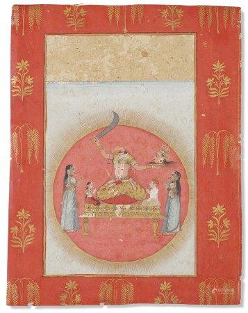 印度 拉贾斯坦邦 可能为斋浦尔 十八世纪晚期 姬娜玛斯德图 INDIA, RAJASTHAN, POSSIBLY JAIPUR, LATE 18TH CENTURY