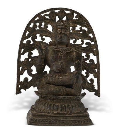 印度南部 喀拉拉邦 十四/十五世纪 铜湿婆苦行像 SOUTH INDIA, KERALA, 14TH-15TH CENTURY