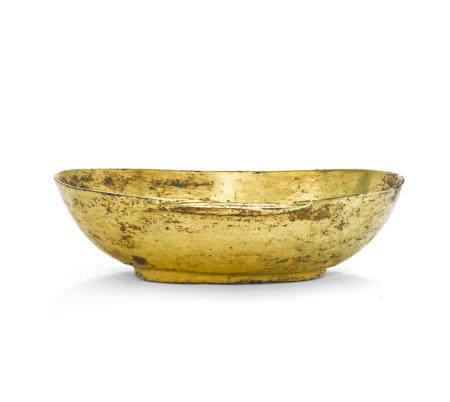 A gilt bronze ear cup Han dynasty