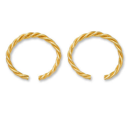 A pair of twisted gold bracelets, qianzhuo 19th century or later (2)