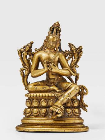 A BRASS FIGURE OF MAITREYA NORTHEASTERN INDIA, PALA PERIOD, 11TH/12TH CENTURY
