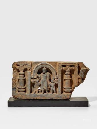 A SCHIST PANEL WITH BUDDHA ANCIENT REGION OF GANDHARA, 2ND/3RD CENTURY