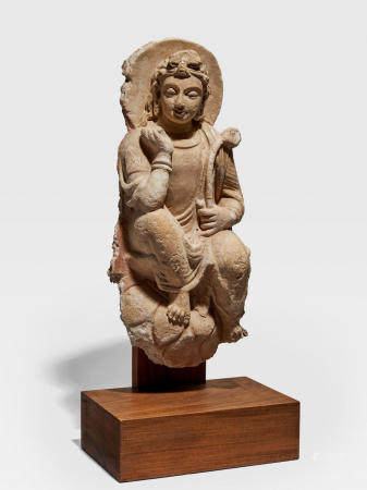 A STUCCO FIGURE OF AVALOKITESHVARA ANCIENT REGION OF GANDHARA, 4TH/5TH CENTURY