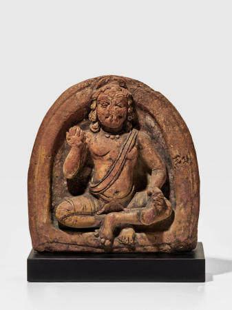 A TERRACOTTA RELIEF OF SOMA (CHANDRA), THE MOON GOD UTTAR PRADESH, GUPTA PERIOD, 6TH CENTURY