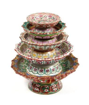 CHINE, Bencharong, pour la Thaïlande XIXe siècle