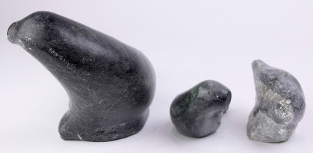 An Inuit carved soapstone group