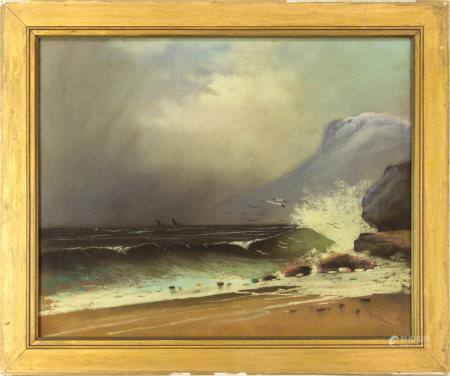 Pastel, Stormy Seas