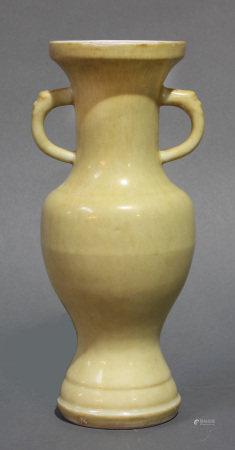 Chinese yellow enameled vase